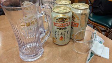 サイゼリヤのビールが缶ビールになっていた