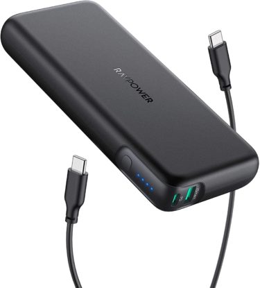 旅行者必携のモバイルバッテリー「RAVPower」RP-PB201のレビュー(PD対応・大容量)